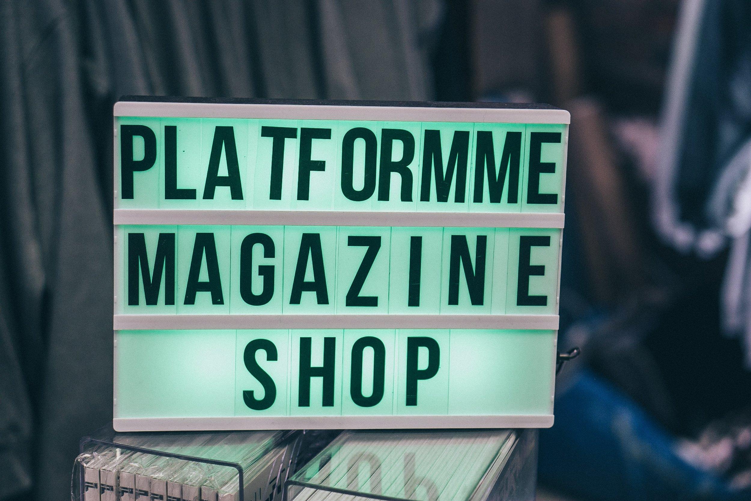 PLATFORMME SHOP