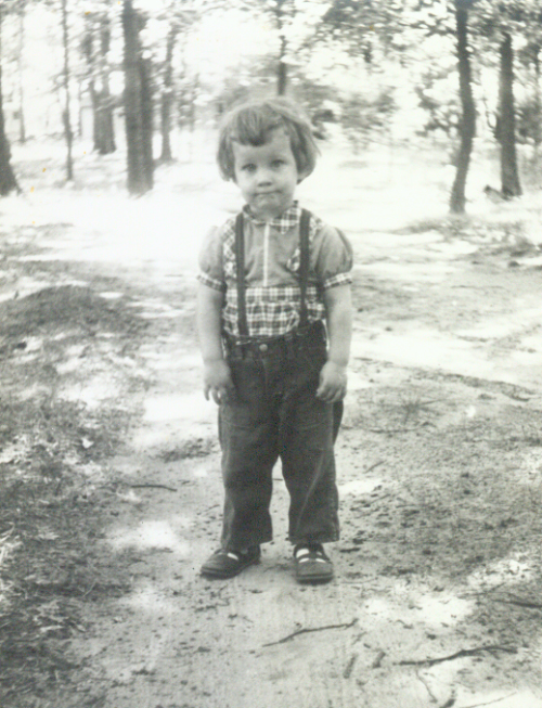 Age two. Beginning to develop my own fashion sense.