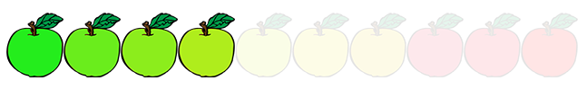 4 out of 10 apples
