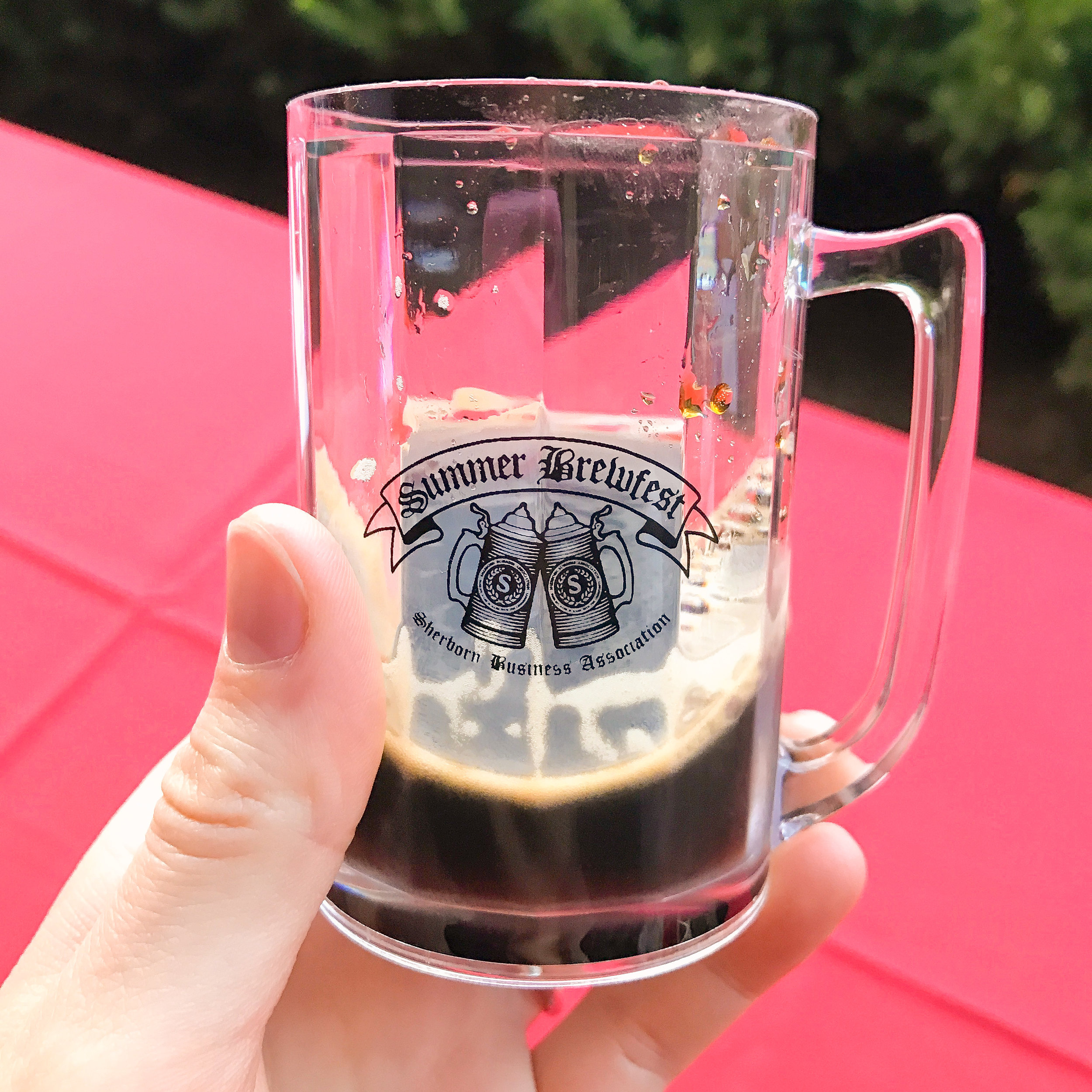 My mug filled with breakfast stout