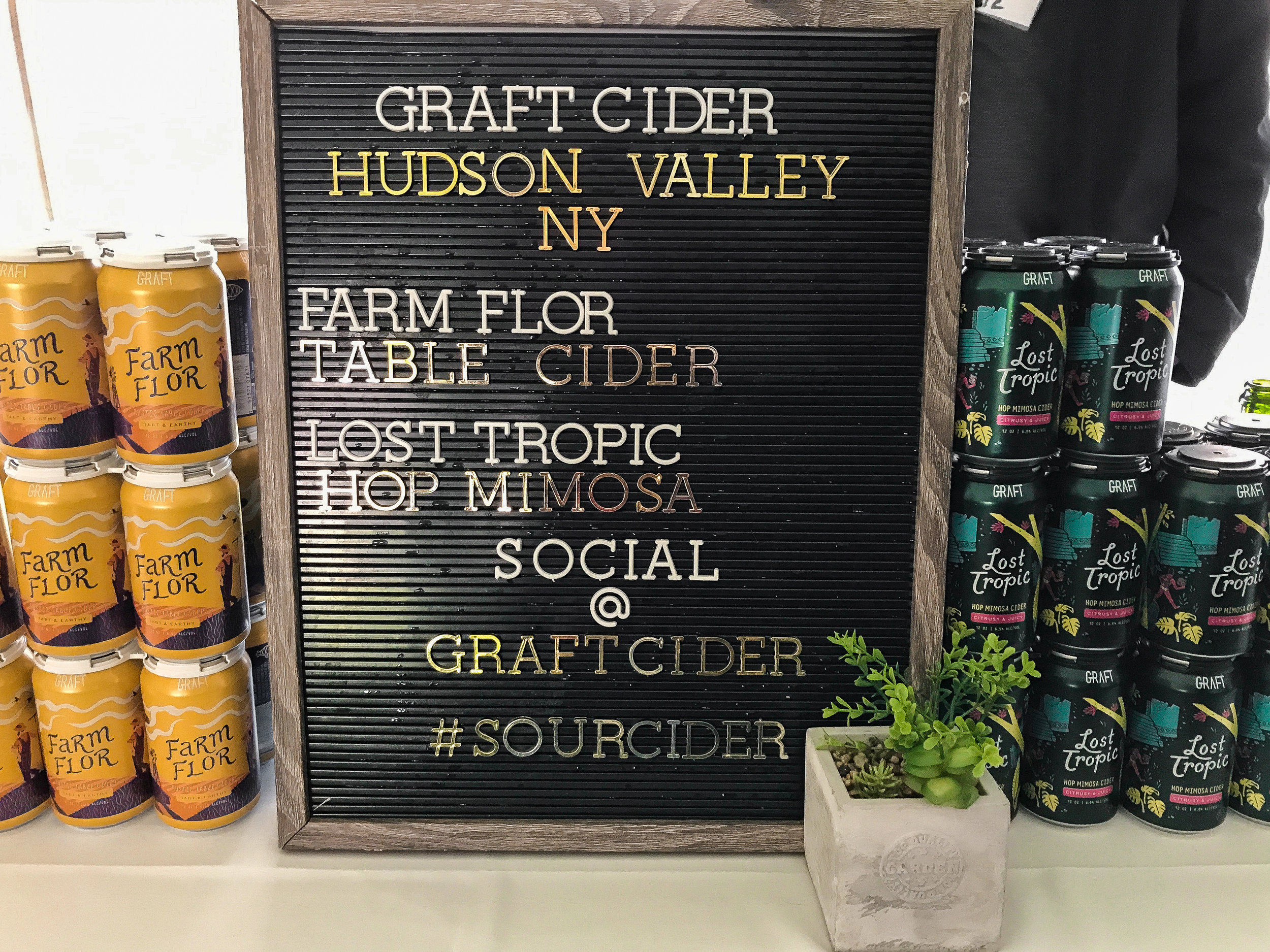 Graft Cider's table
