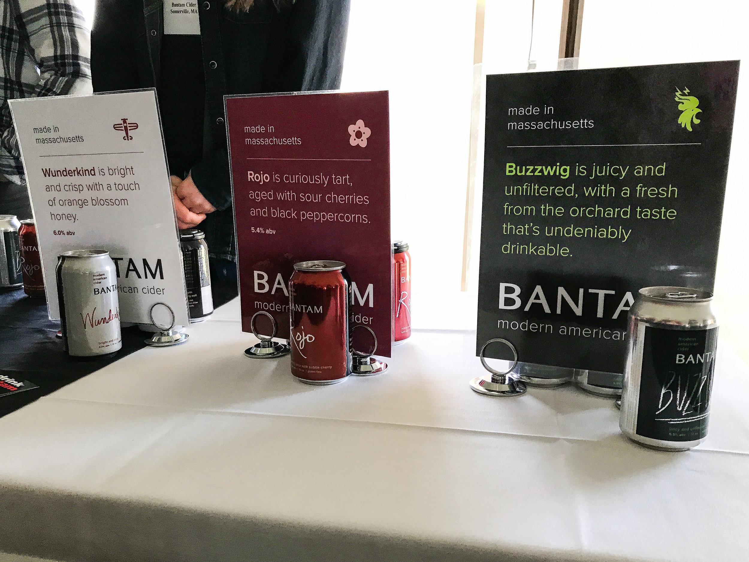 Bantam Cider's table