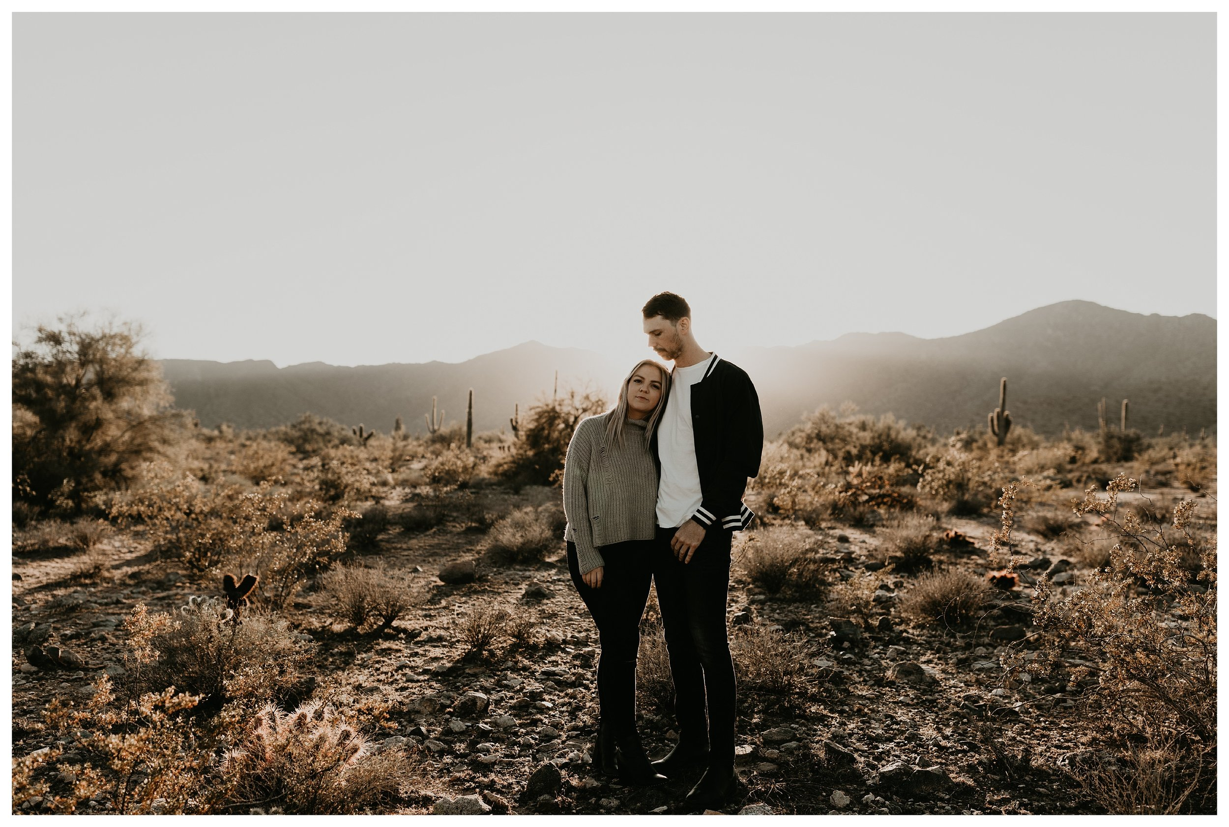 Engagement photo in Arizona at White Tank Mountain