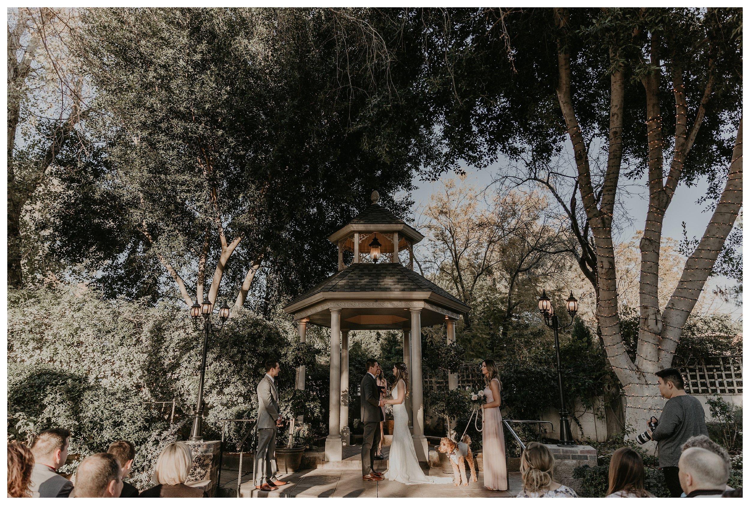 The Wright House Wedding Ceremony site