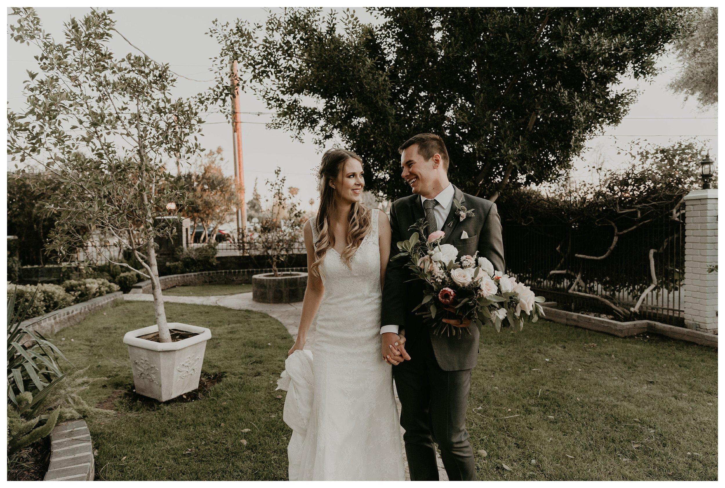 Wright house wedding bride and groom photos