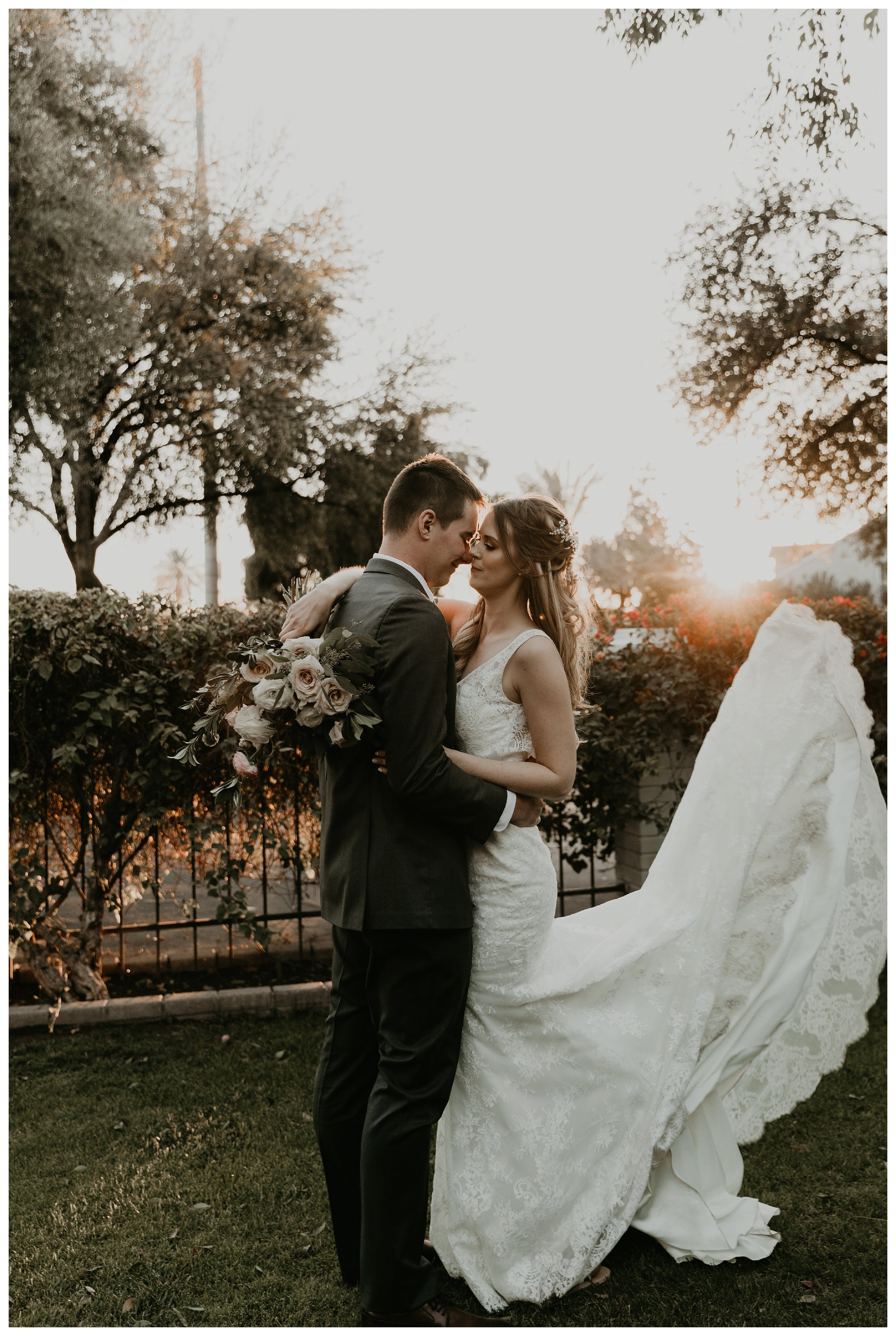 The wright house wedding bride and groom photos