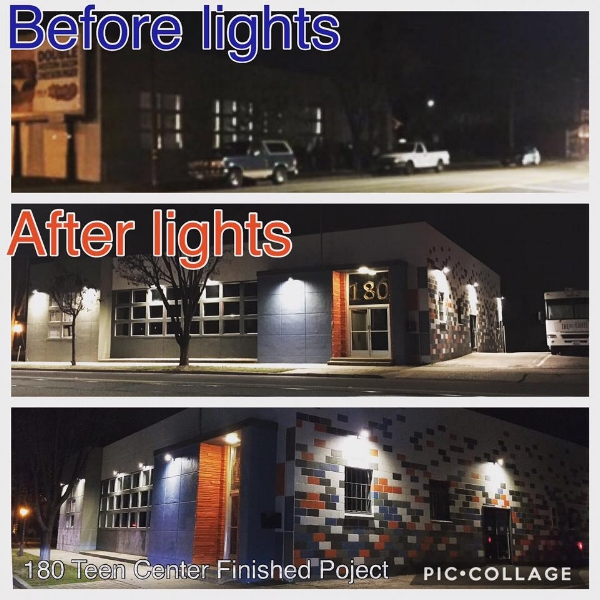 Before and after with the light updates (bet you didn't even notice the large group of kids in the before picture)