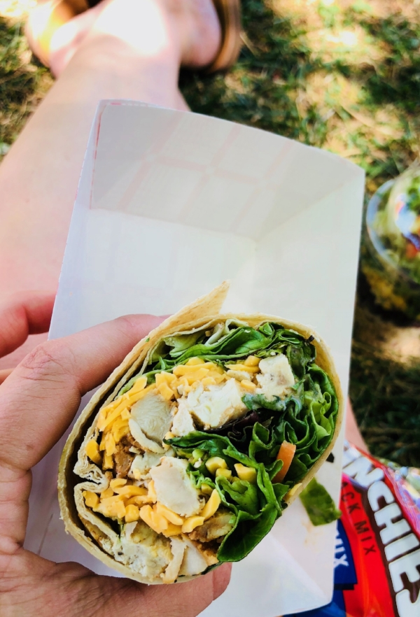 BBQ Chicken wrap lunch that even my very picky toddler loved
