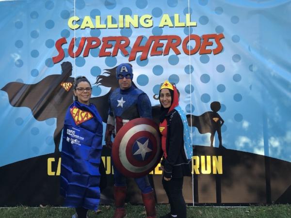 Some of the runners at the Superhero Fun Run