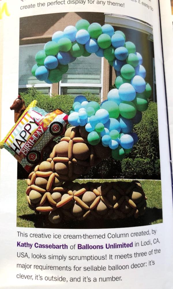 Kathy's award winning balloon art