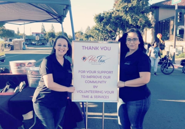 The Tax Professional ladies supporting the Lodi Chamber fundraiser