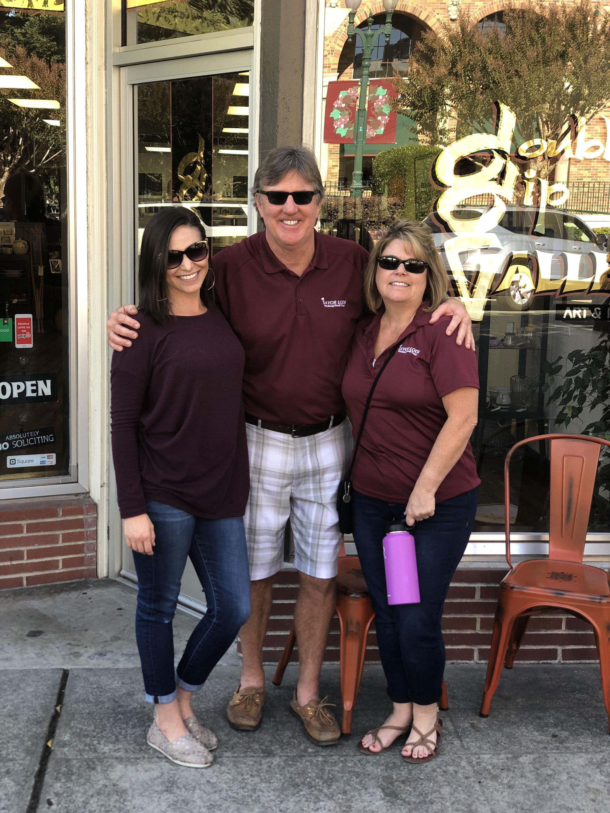 Scott & Juliette Fyffe, Savor Lodi Owners, and Jamie, Lodi Live Owner