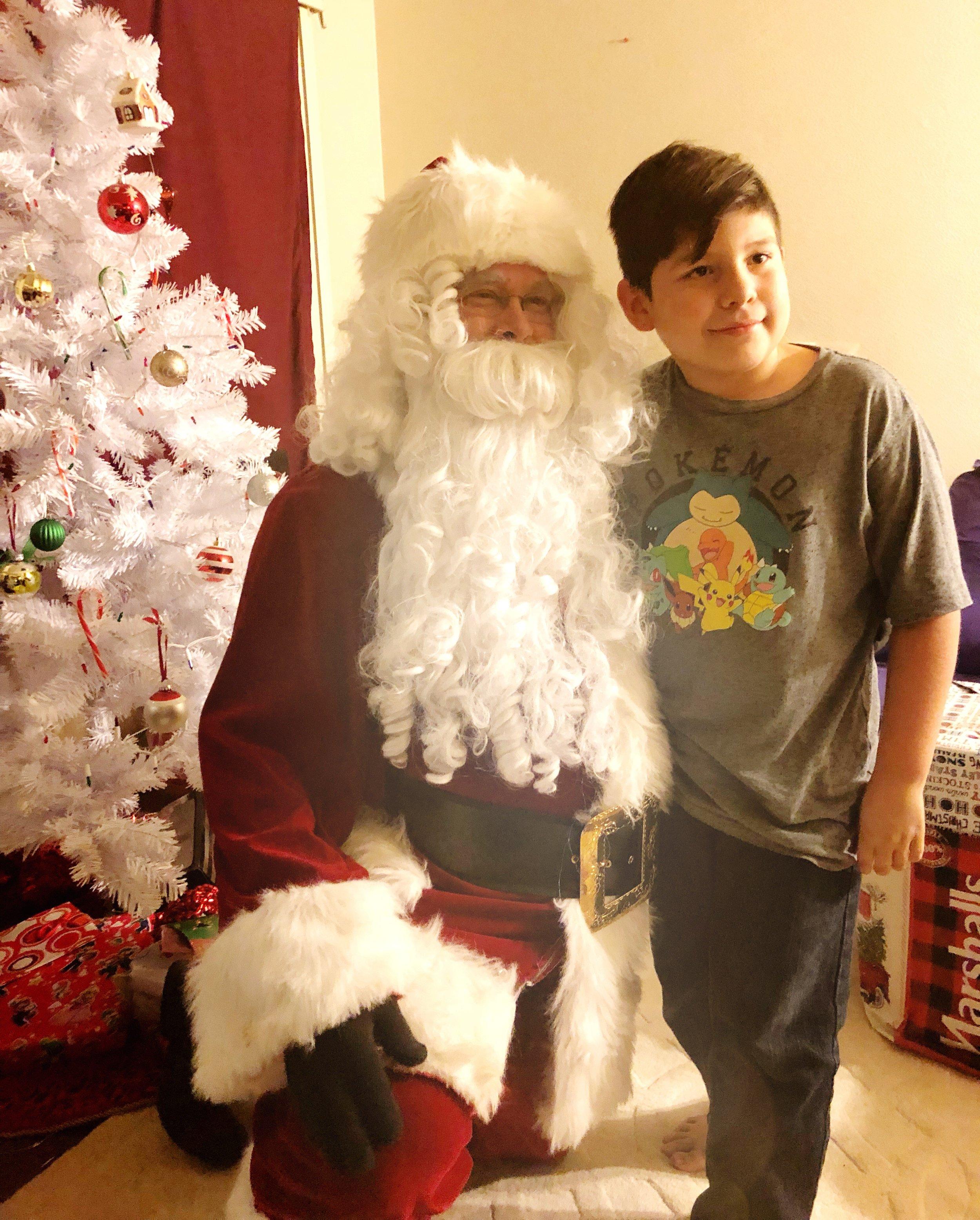 Santa visiting the second boy