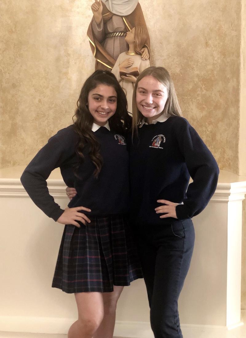 8th Grade friends, Gabby & Paige