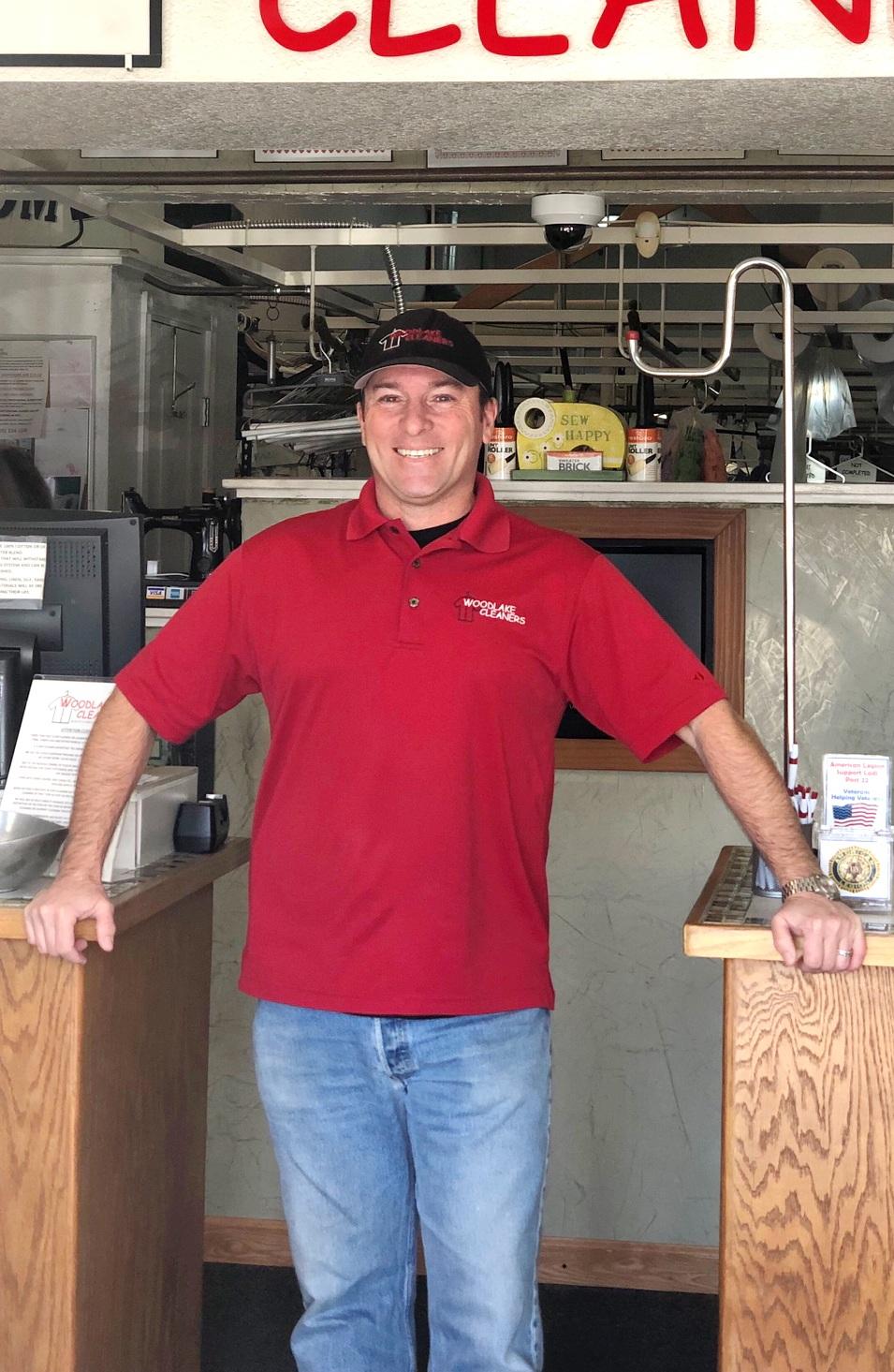 Dean Machado, owner of Woodlake Cleaners