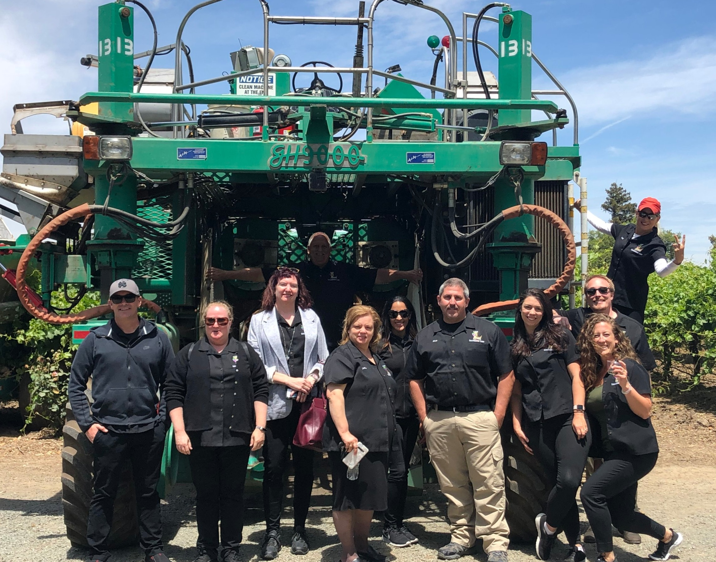 The Leadership Lodi class of 2019 out on Ag Day learning about the Agriculture side of Lodi