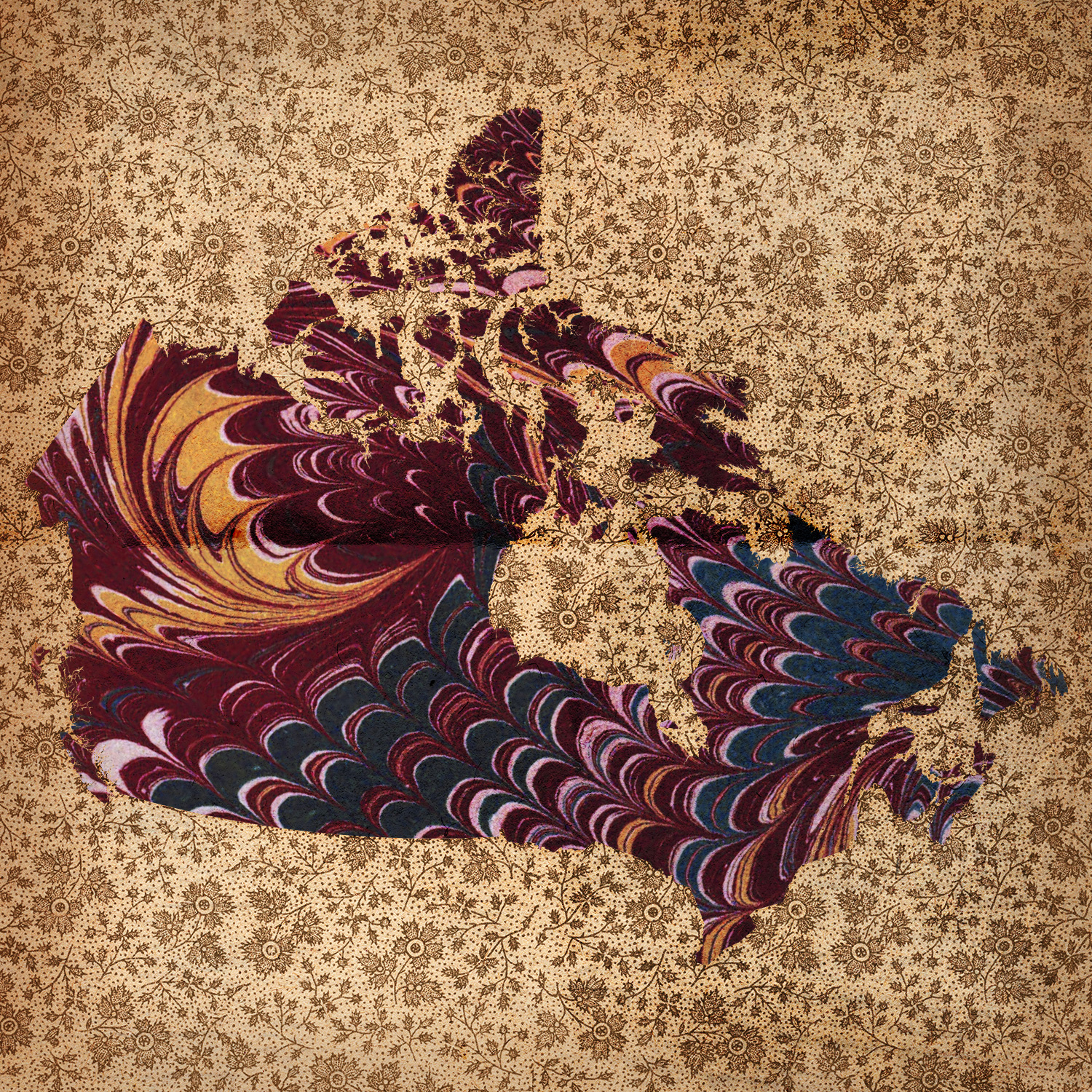 Textured map of Canada.