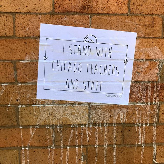 Did you know that the Chicago Public School Teachers and Staff @ctulocal1 will likely go on strike on the 17th? Well if you are up for some solidarity, you can download two different patterns from my website (on the street art page). You have full permission to use them how you see fit - postering, stickers, pins, buttons, signs, whatever you like. ✊🏼 ——————————— #badasscrossstitch #ctu #chicagoteachers #strike #craftivism #craftivist #feminist #feminism #supportteachers #supportstudents #prioritizeeducation #streetart #wheatpaste #wheatpasteart #wheatpasting #Iammessy