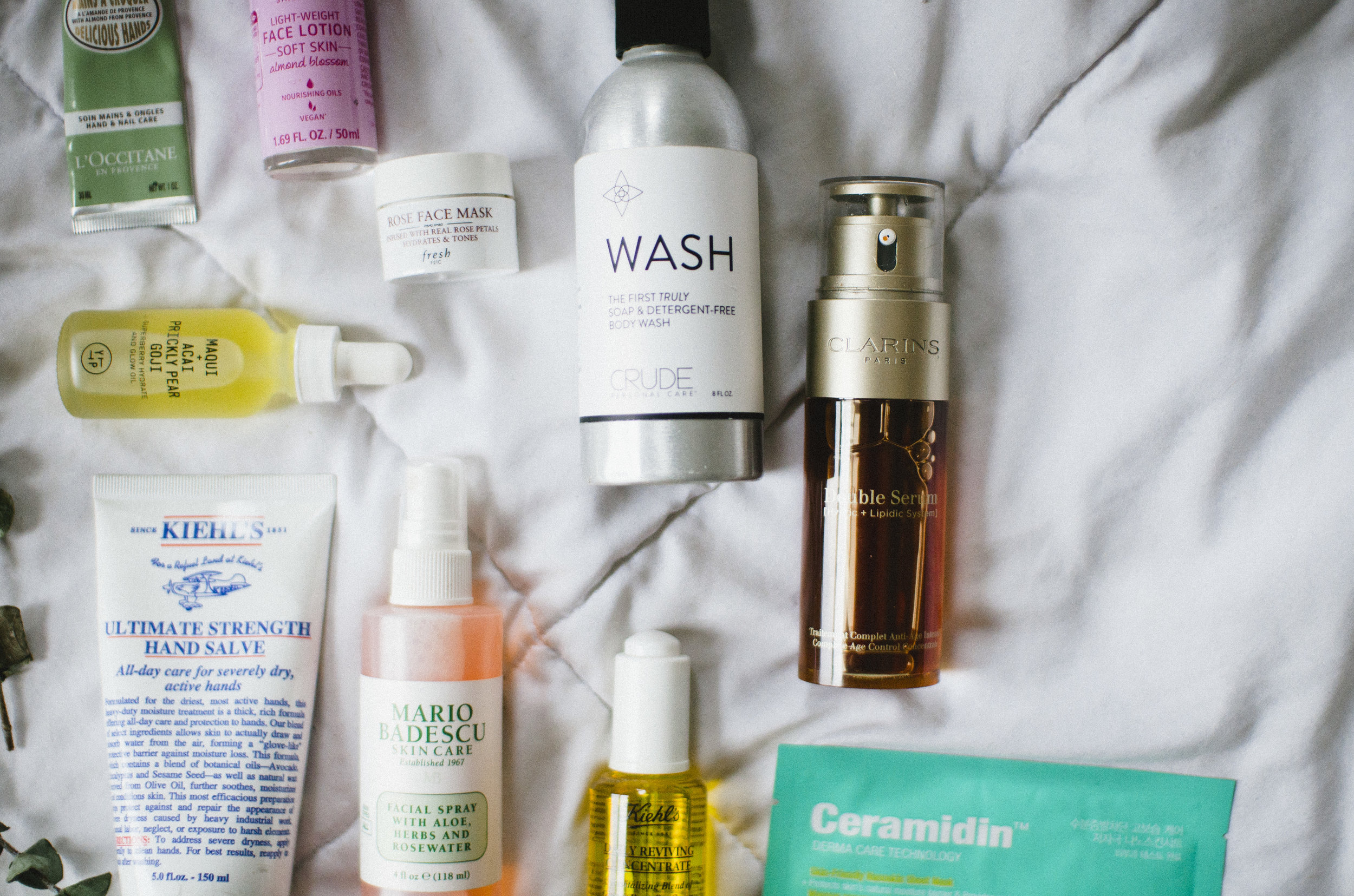 favorite-skincare-clarins-crude-kiehls-youth-to-the-people-loccitane-fresh-kneipp