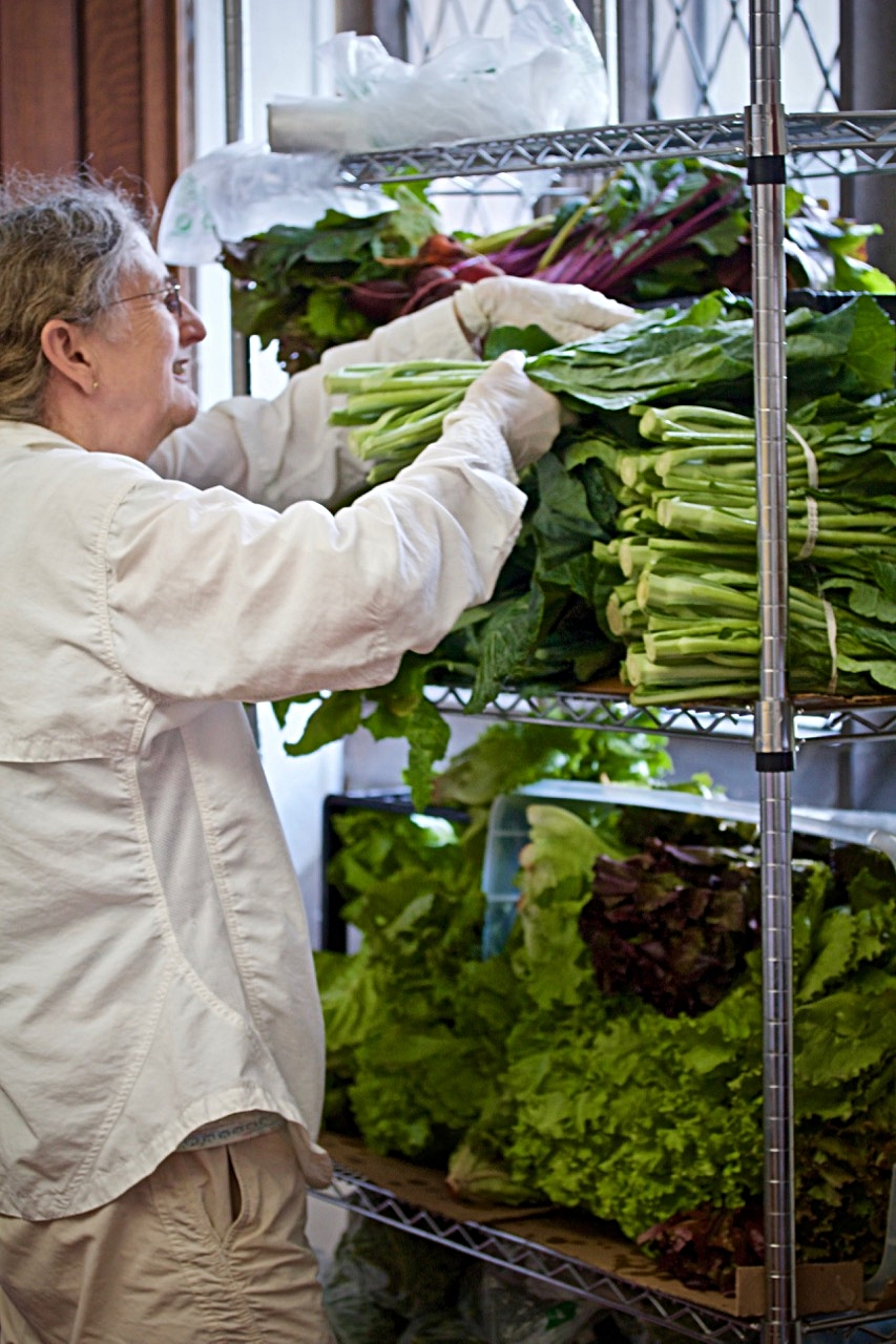 FRESH PRODUCE DONATED BY FARMS TO NEWTON FOOD PANTRY