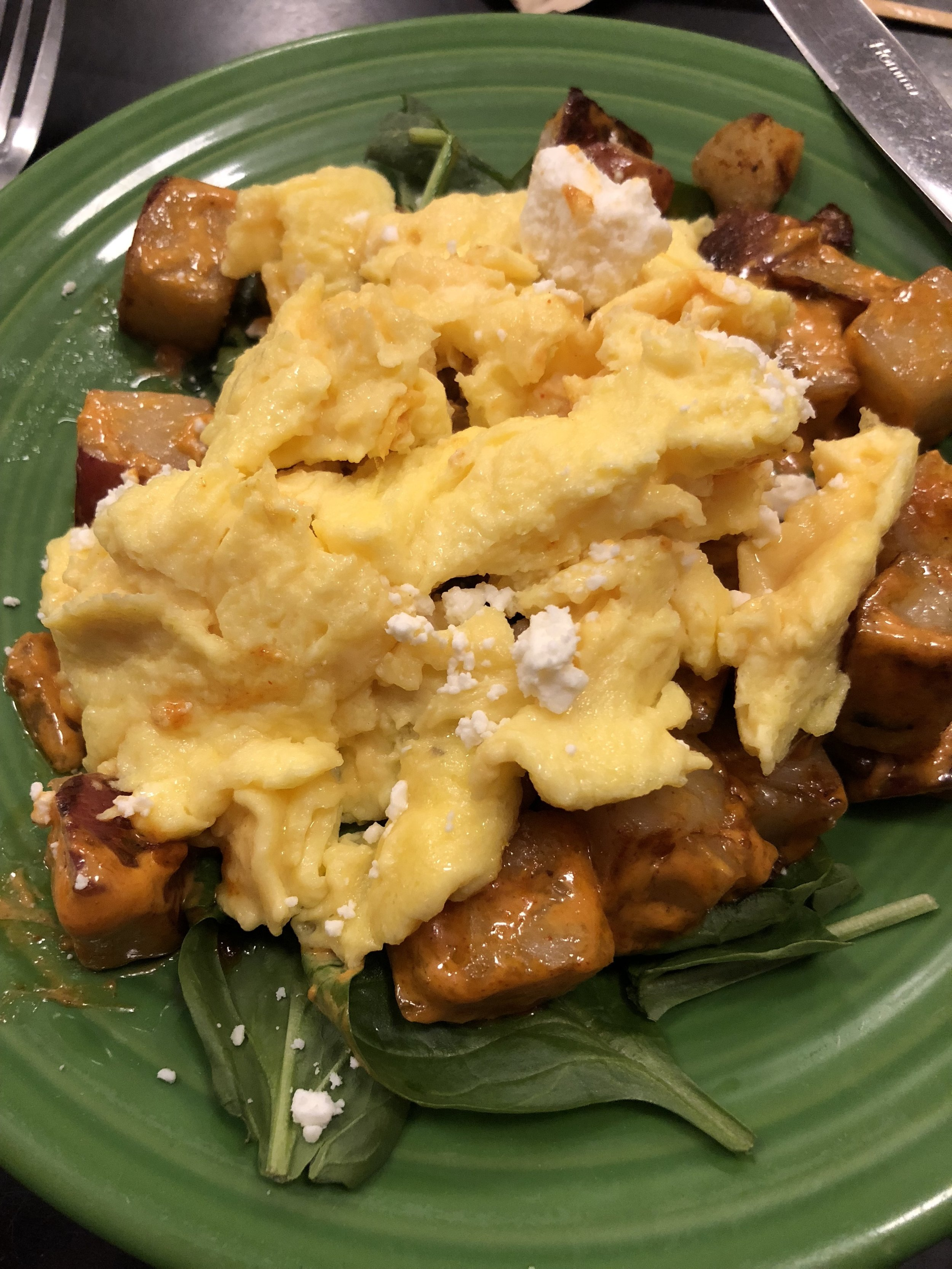 Potatas Bravas, one of the many homemade and delicious breakfast items!