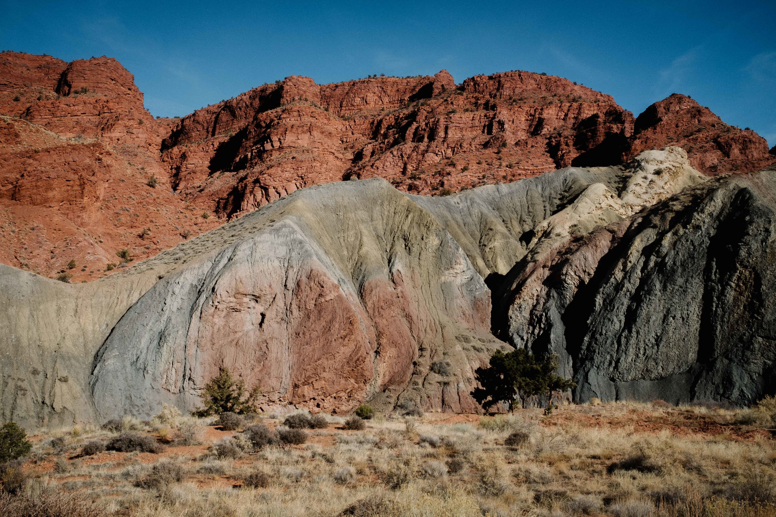 The various colors of of rock formation coming from the sulpher in the area. Fuji X100F