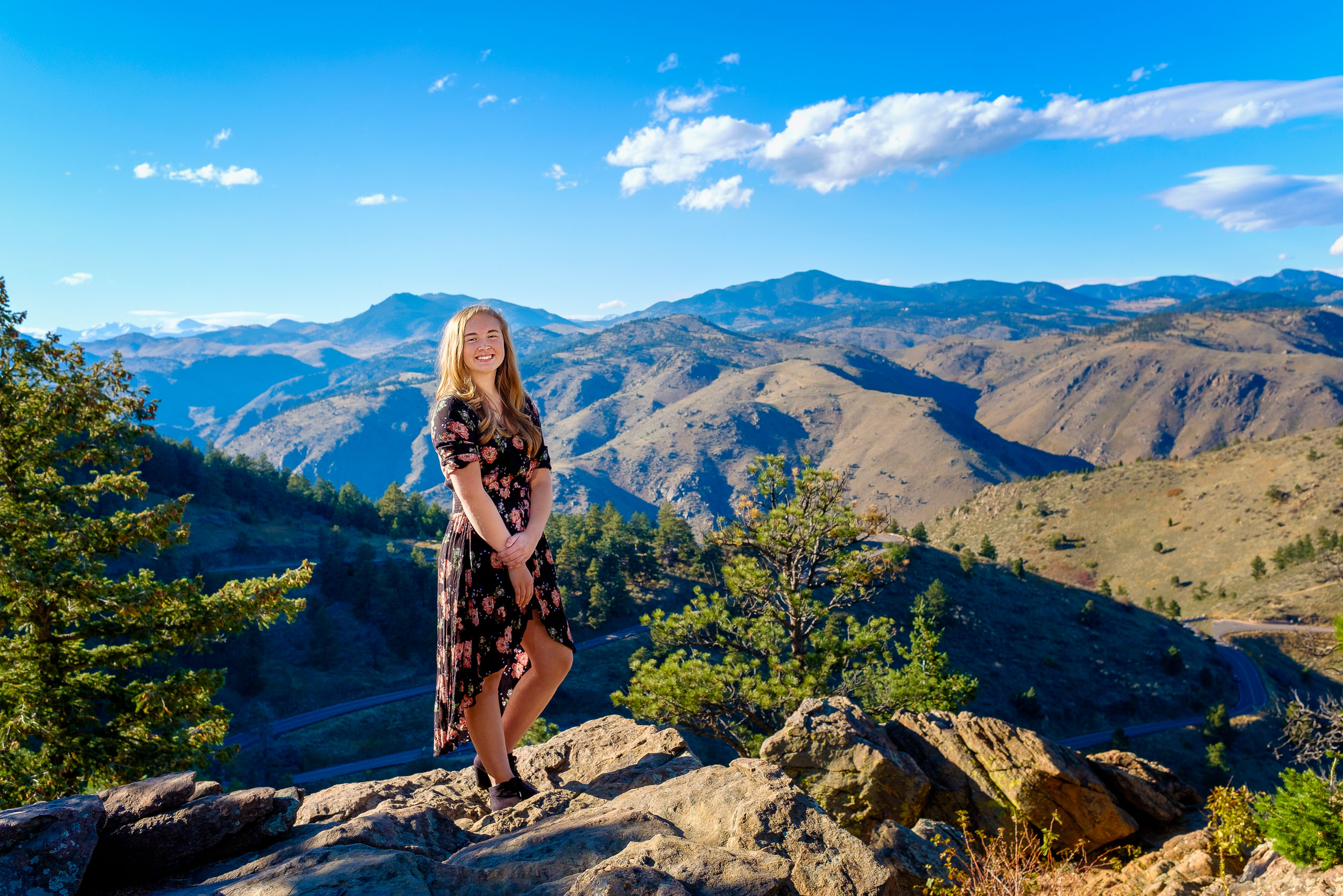 Isabell's Senior Picture at Lookout Mountain Black Dress