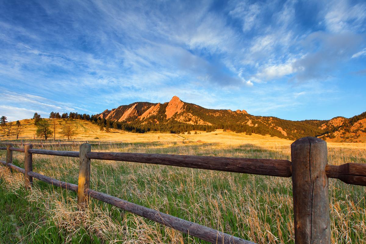 Boulder Flat Irons at Sunrise - Canon 5D Mark II, EF 16-35mm f/2.8 II lens