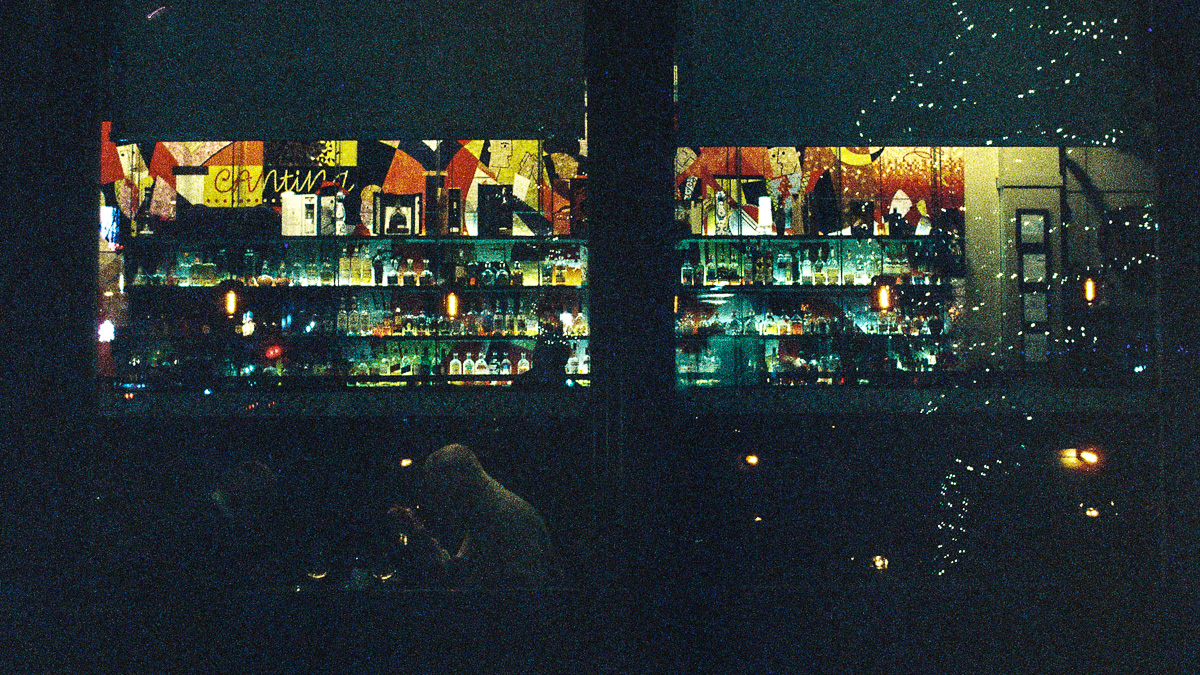 The lighted bar at Tamayo in Larimer Square