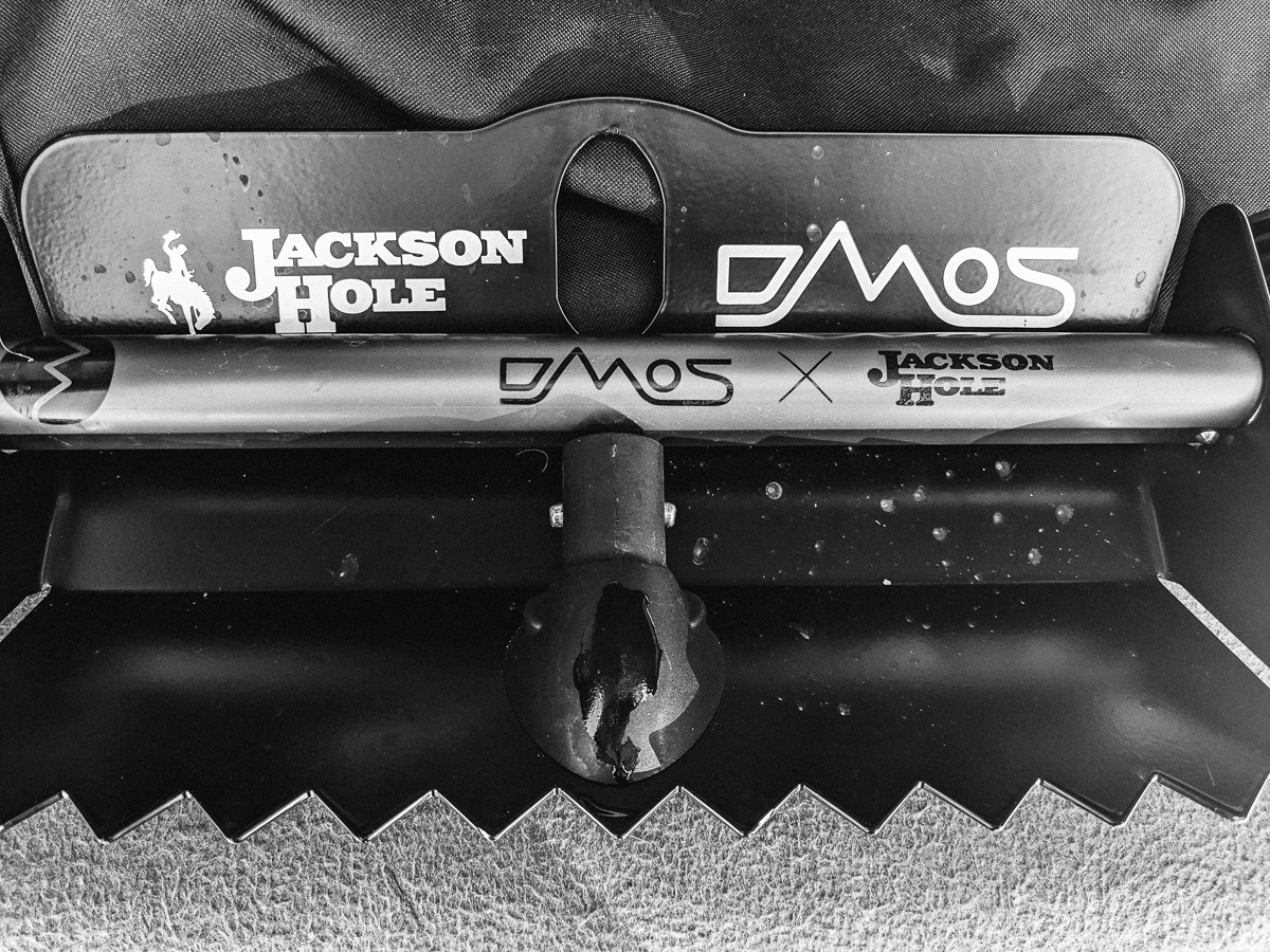 Day 78- 365 Day B&W Photo Challenge - The DMOS Stealth Snow Shovel is nice and compact and fits in the back of my 4Runner with the other recovery gear. Works great for shoveling snow out from under the truck. Google Pixel 3, VSCO Tri-X 400 preset