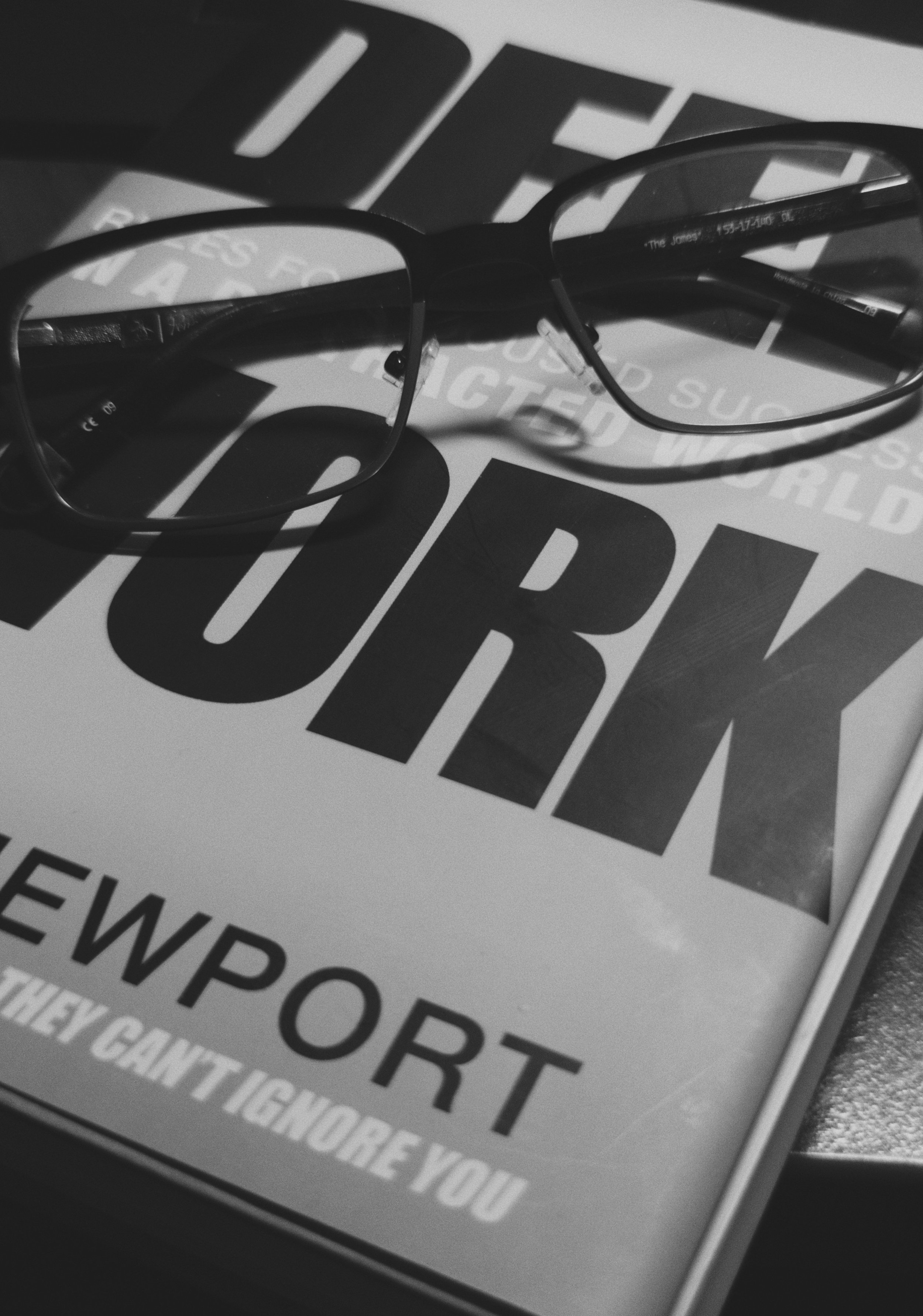 Day 83- 365 Day B&W Photo Challenge - This is an excellent book - Deep Work by Cal Newport -  Google Pixel 3, VSCO B5 Simulation