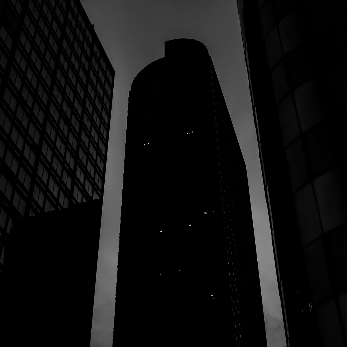 Day 85- 365 Day B&W Photo Challenge - The Wells Fargo Tower, also known as the Cash Register Building, in downtown Denver, Colorado - Fuji X100F, Acros R Film Simulation