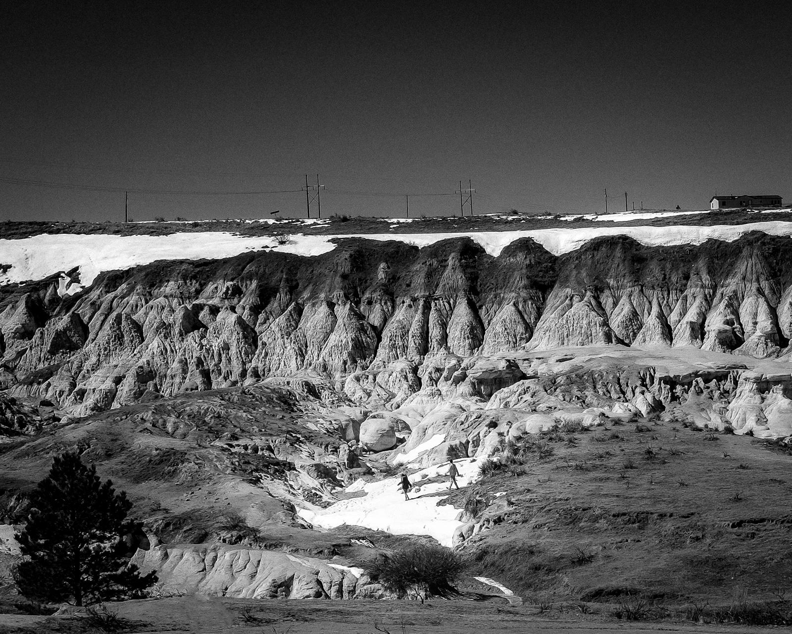 Day 86- 365 Day B&W Photo Challenge - The Paint Mines Interpretive Park outside of Calhan, Colorado in El Paso County- Fuji X100F, VSCO Tri-X 400 Film Simulation