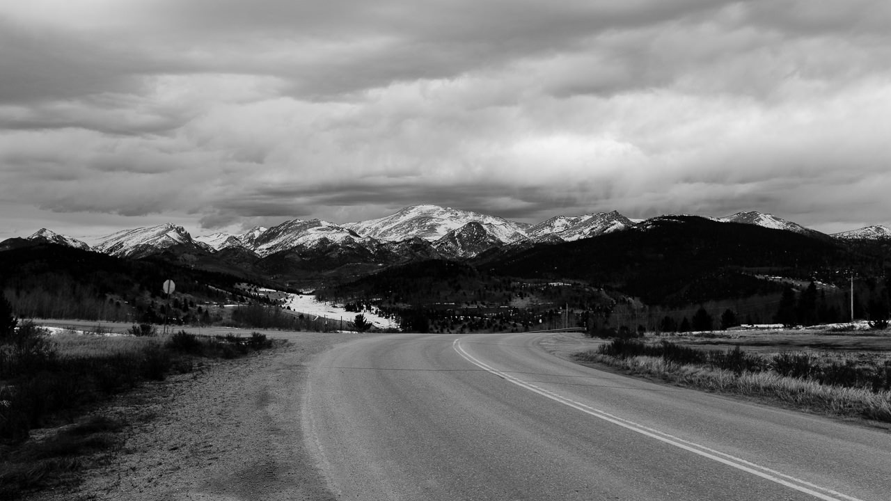 Day 89- 365 Day B&W Photo Challenge - Views of Pikes Peak from Victor Pass, just outside of Victor, Colorado - Fuji X100F, Acros R Film Simulation
