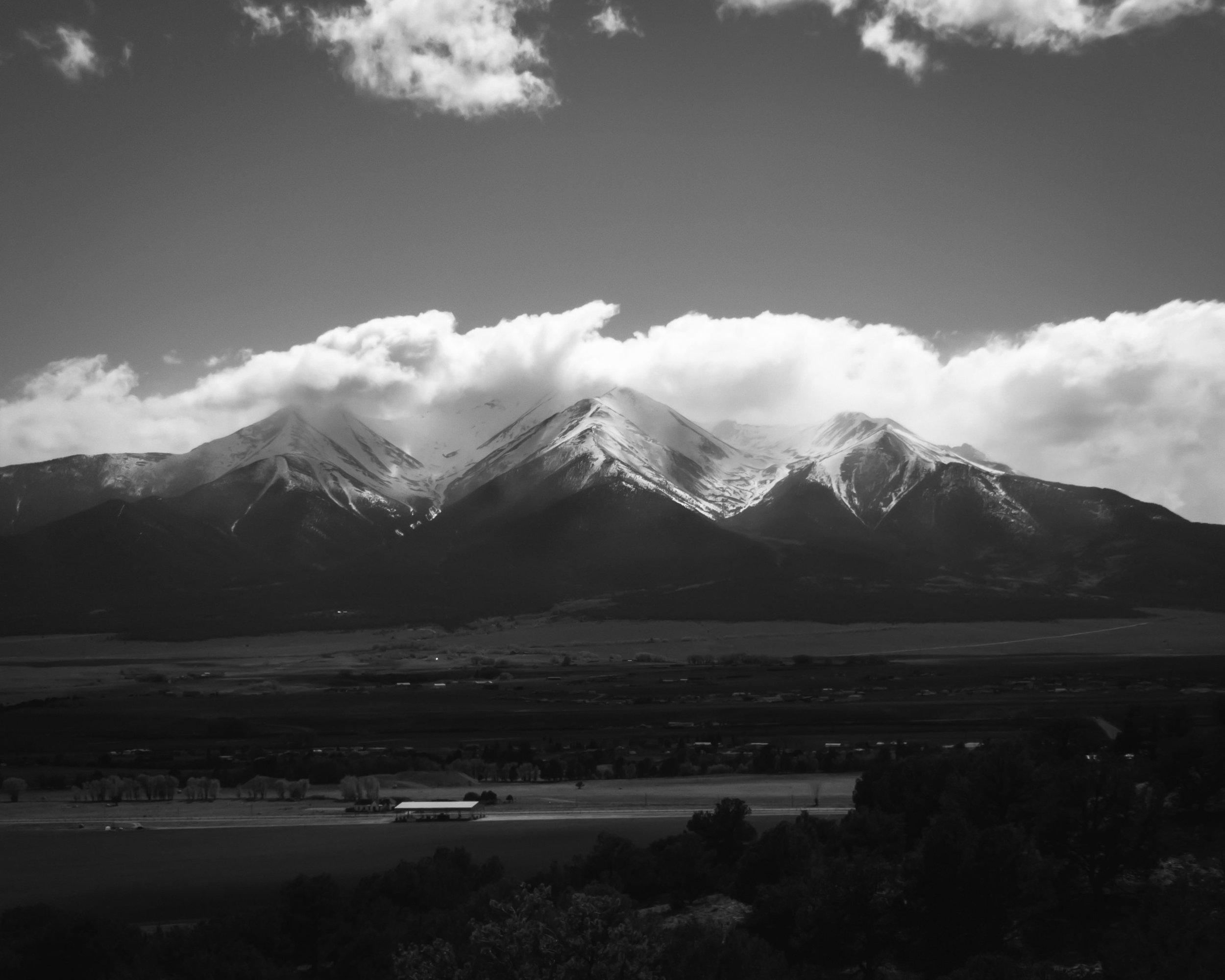 Day 139- 365 Day B&W Photo Challenge - Views of Mt. Princeton, one of Colorado's 14K Ft. mountains. - Google Pixel 3, Moment Tele Lens, VSCO Tri-X400 Film Simulation
