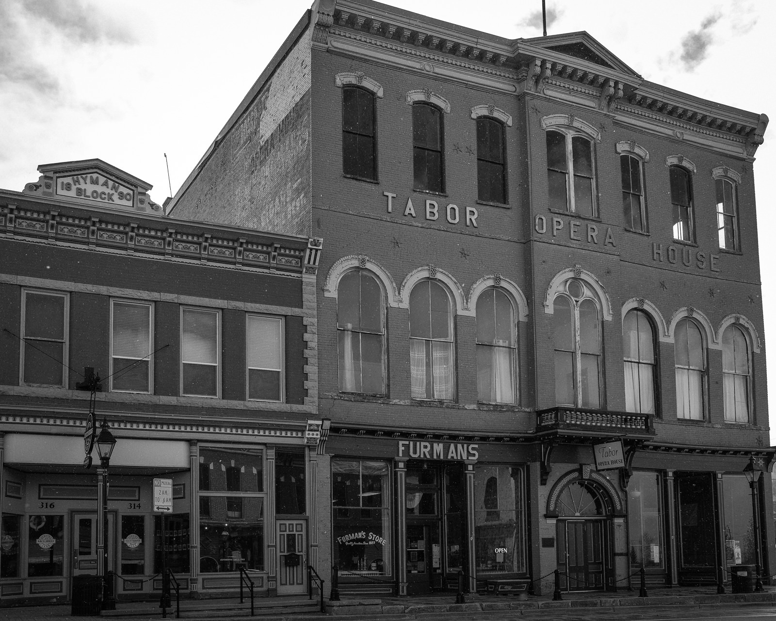 Day 143- 365 Day B&W Photo Challenge - The Tabor Opera House in Leadville, Colorado built in 100 day back in 1879 by Horace Tabor and has been here for 141 years. - Fuji X-T3, XF 23mm f/2, Acros R Film Simulation