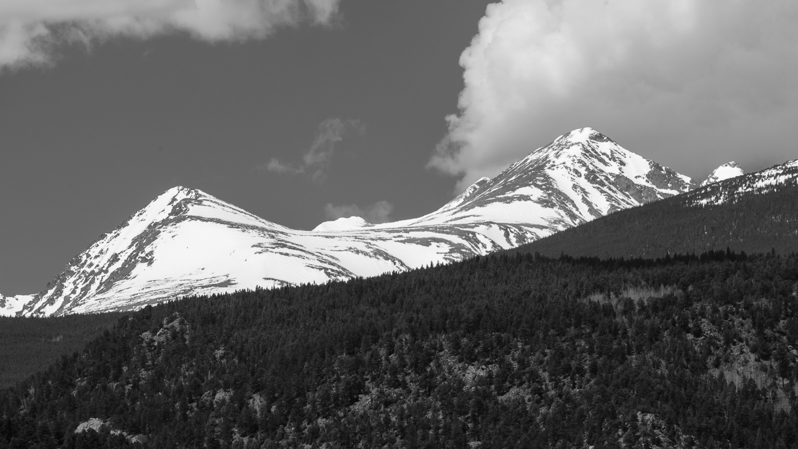Day 154- 365 Day B&W Photo Challenge - Views of the Indian Peaks on a warm spring day - Fuji X-T3, XF50-140mm f/2.8, Acros R Film Simulation