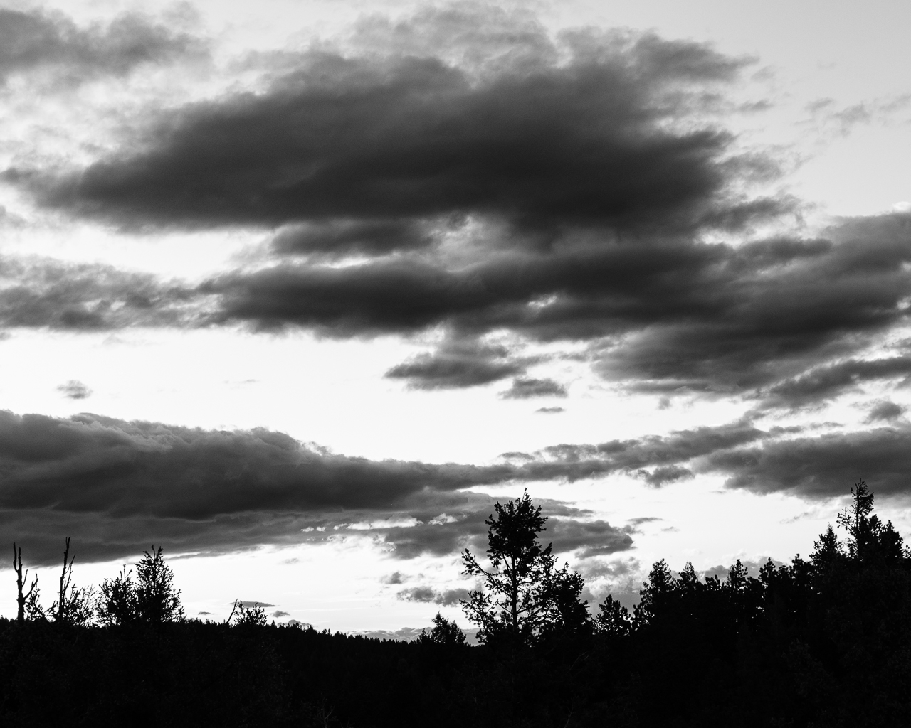 Day 194 - 365 Day B&W Photo Challenge - Storm Clouds hovering at Sunset.  -  Fuji X-T3, XF 35mm f/2, Acros R Film Simulation