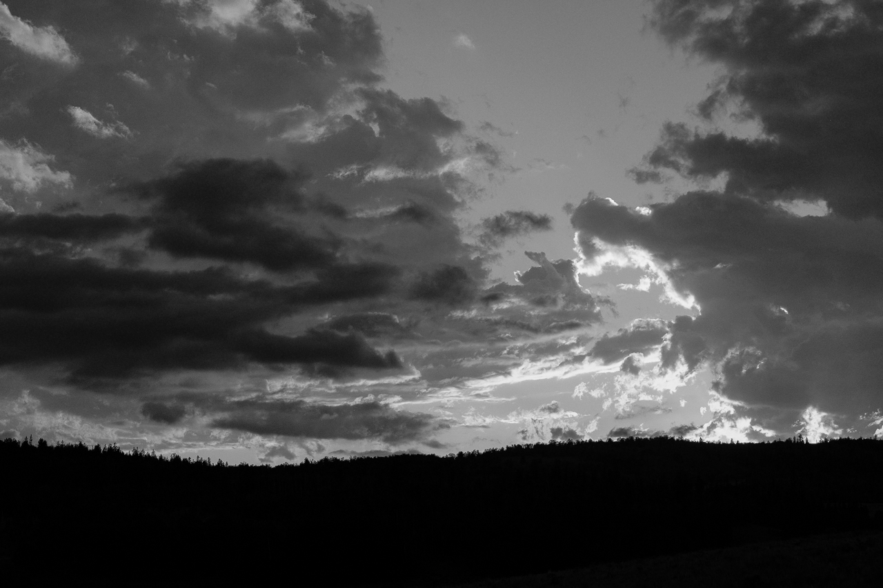 Day 198 - 365 Day B&W Photo Challenge - Sunset Textures in the sky - Fuji X-T3, XF 50-140mm f/2.8, Acros R Film Simulation