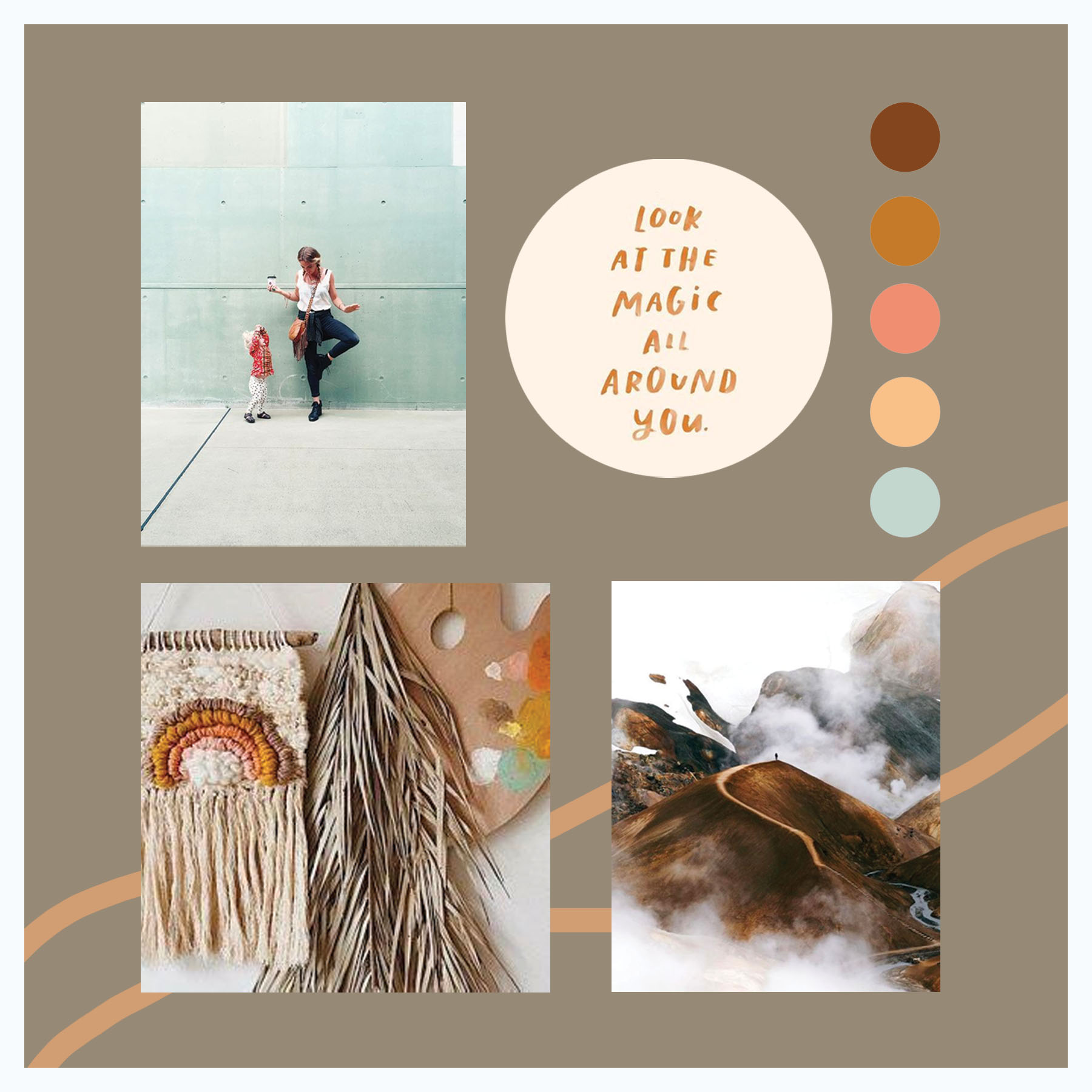 Moodboard curated using Pinterest images only