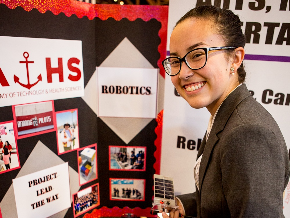 """EXP's Robotics Program, in partnership with Phillips 66, helped me realize that I want to be a mechanical engineer."" - -Viviana, EXP Phineas Banning High School Class of 2018, currently studying Mechanical Engineering at California State University, Los Angeles."