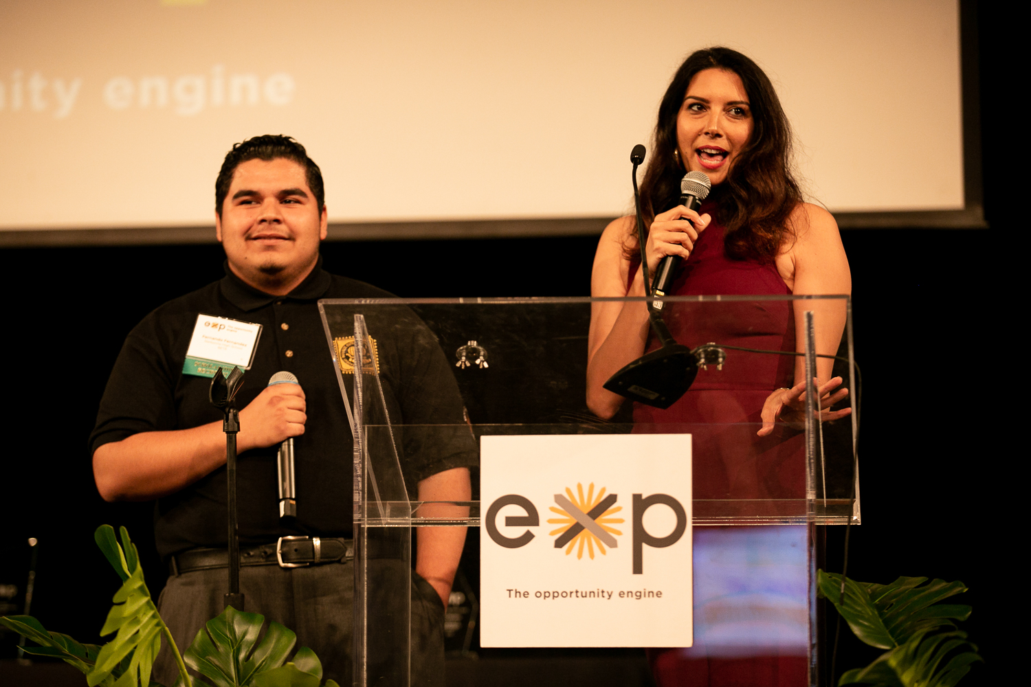 """By having confidence and knowing that I can do it; I can do anything!"" - - Fernando, on hosting EXP's Oceans of Opportunity with TV personality Viviana Vigil"