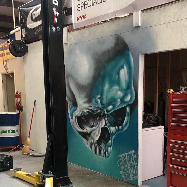Skull study I work on the last couple mornings. #rudyelectrikneedle #azsprayartevolution #azmurals #spraypaintart #mtn94 #mural #prescottvalley #az