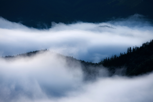 Fog on the peaks of the Smokies