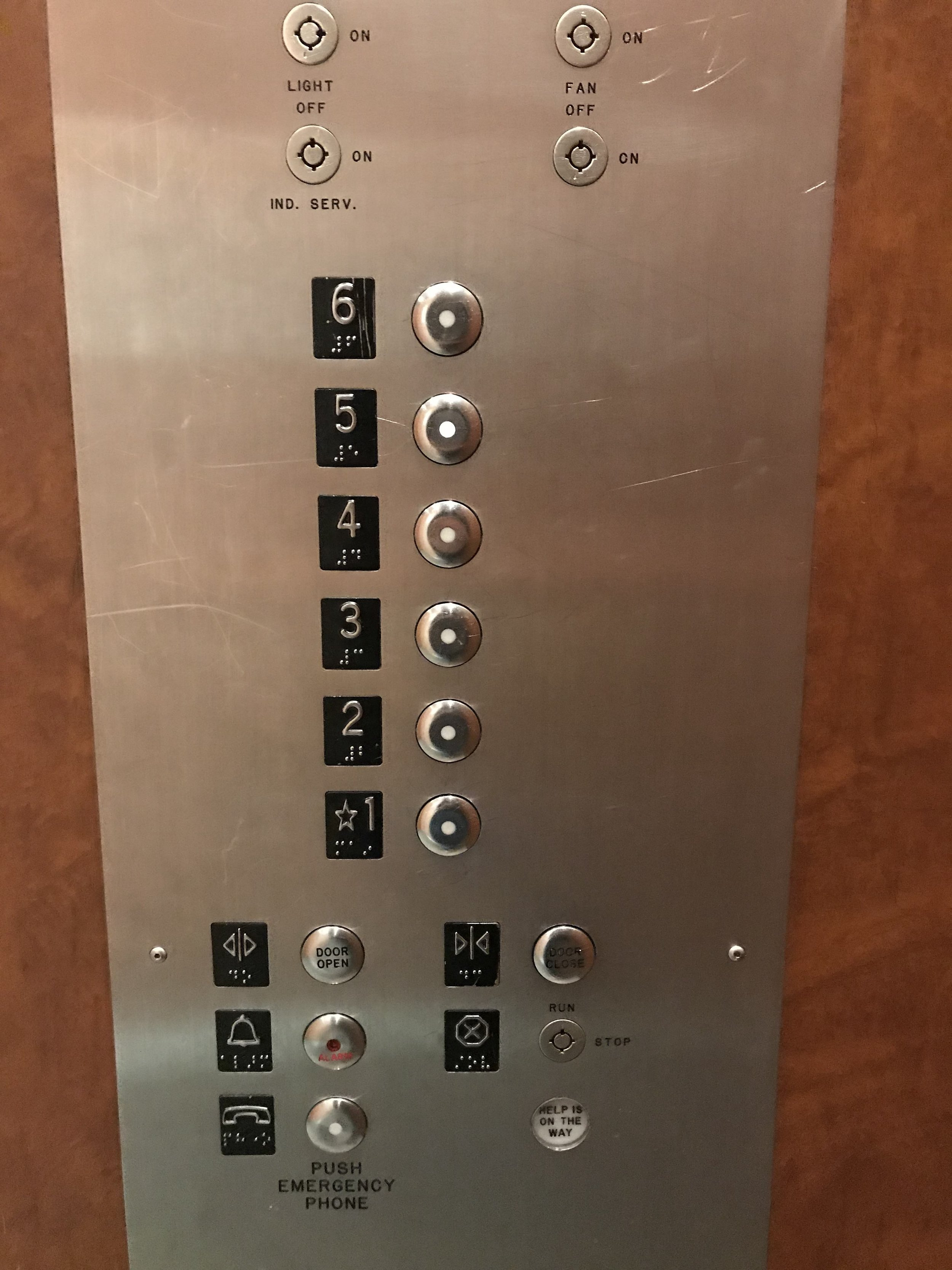 Image 1. This image is of the elevator at my apartment. I had pressed floor 4 and the picture has been taken while the elevator was still about to reach the fourth floor. Hence, as you can see, it is difficult to tell if the person has pressed floor 4 or not and whether the floor has arrived or not.