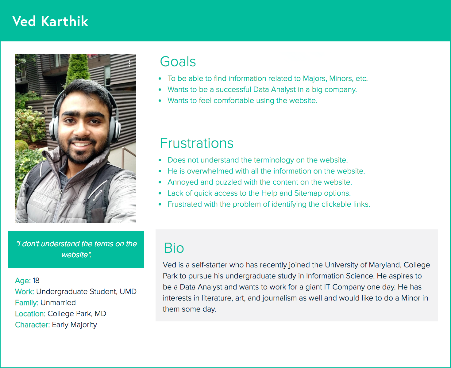"""I don't understand the terms on the website."" - -Ved Karthik"