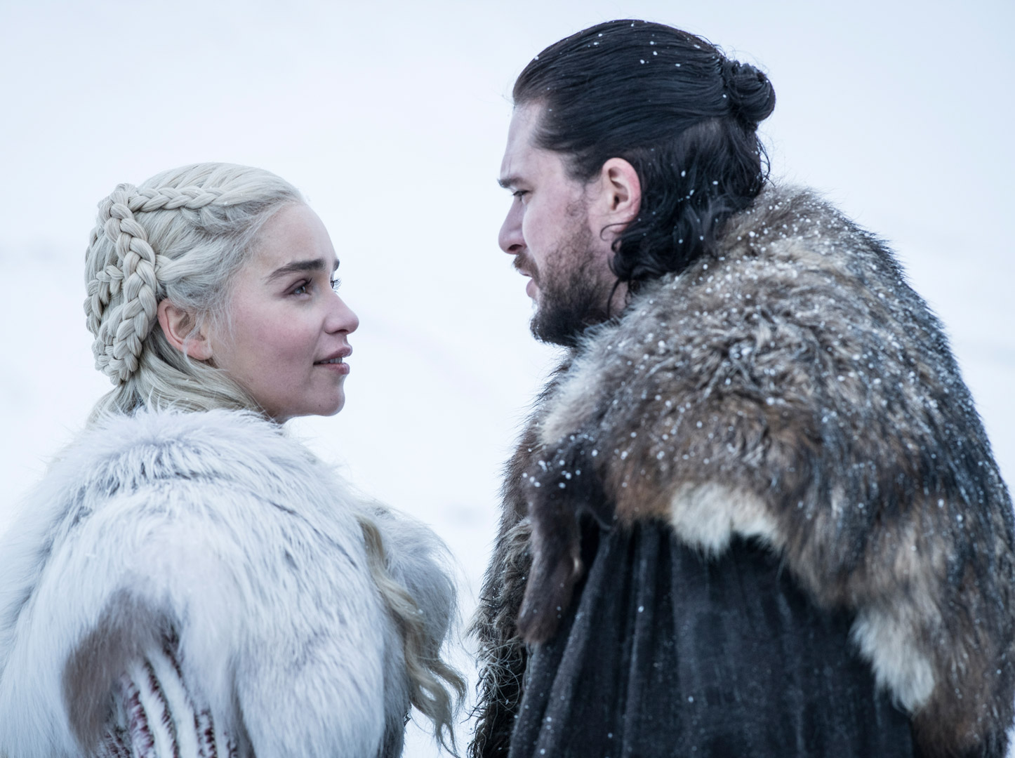 Daenerys and Jon Snow show off their matching fur outfits