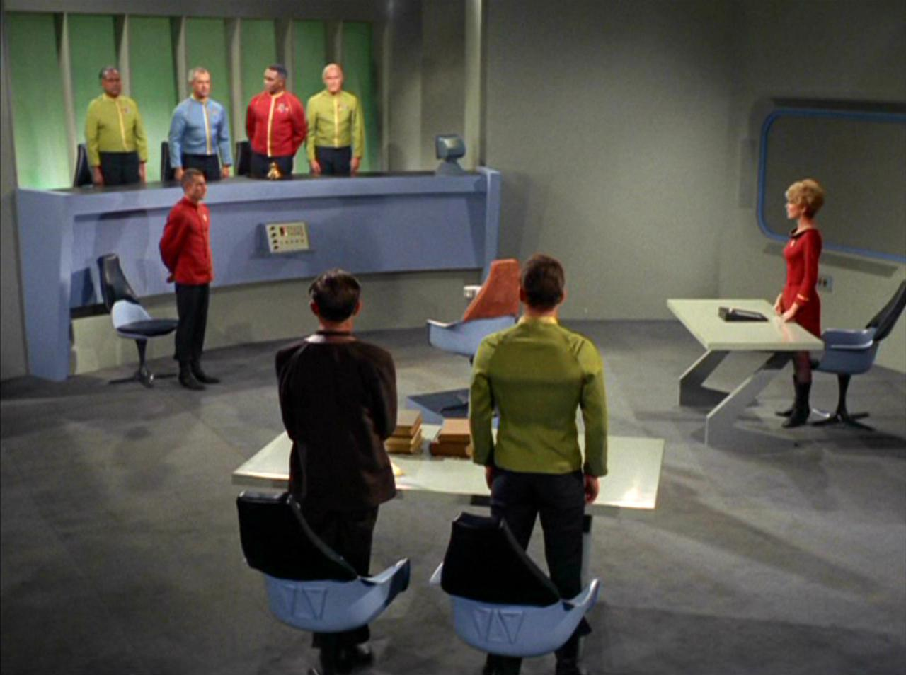 It's the Starbase 11 courtroom from  Star Trek: TOS .