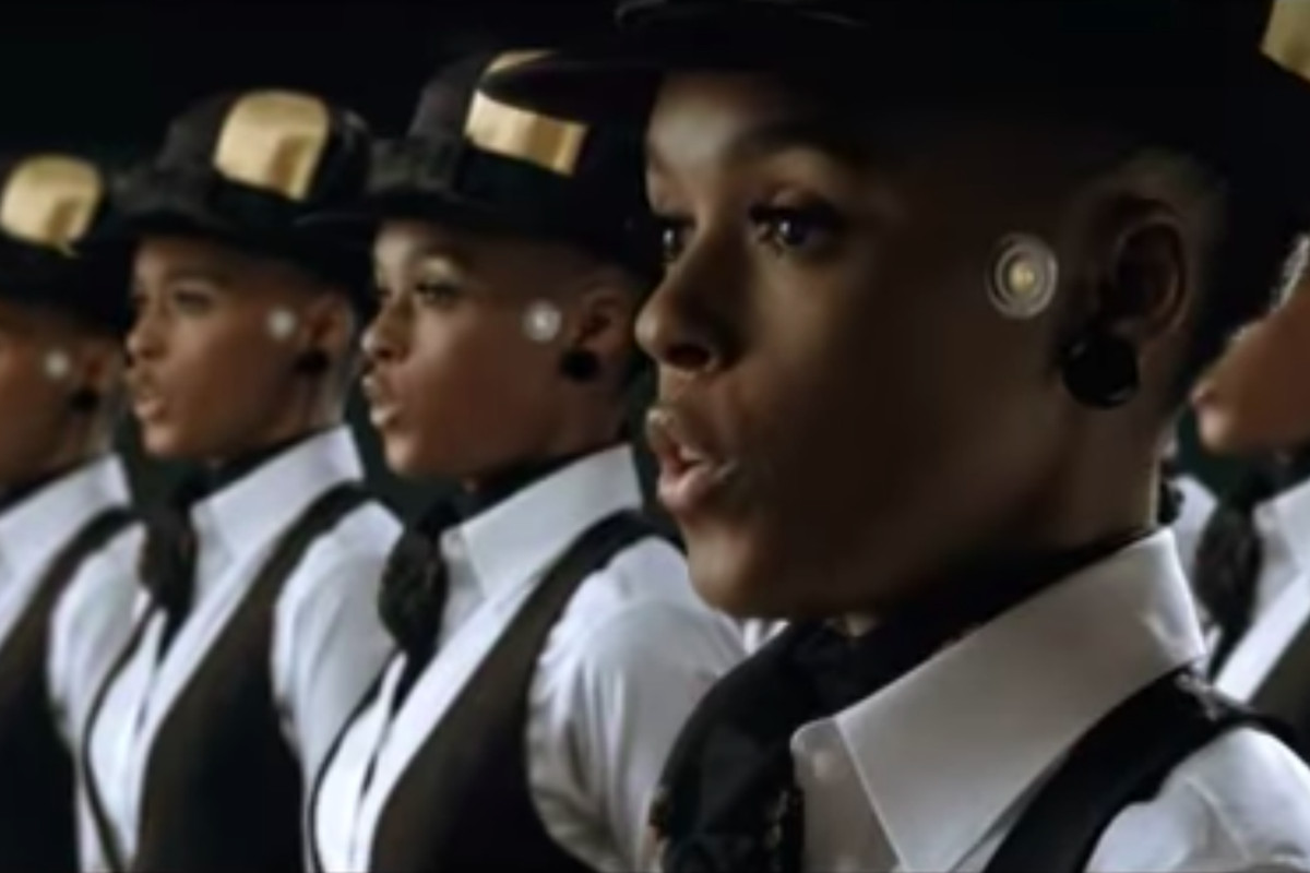 Janelle Monae plays a number of cyborgs, including rebel Cindi Mayweather, in her video for Many Moons.