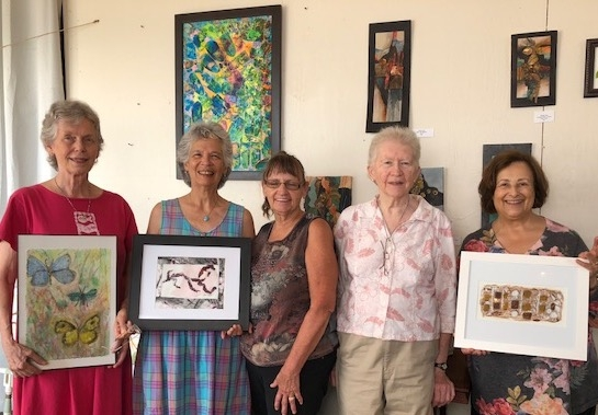 A show at Found Market, Charlottesville, VA, featuring art created in class